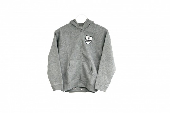 Shield Hoody Full Zip Junior Grey