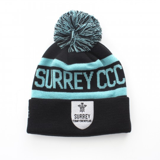 Surrey CCC Bobble Hat Black