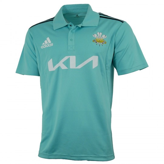 2021 Surrey Adidas Replica T20 Short Sleeve Youth