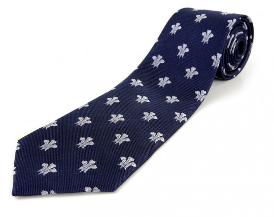 Surrey CCC 3 Feathers Navy Tie