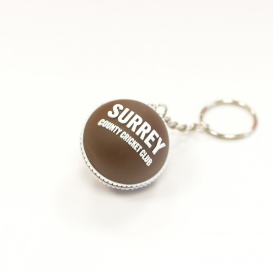 Surrey CCC Brown Cricket Ball Keyring