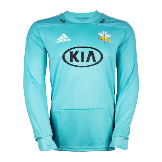 Surrey Adidas Replica T20 L/S Playing Shirt, Youth