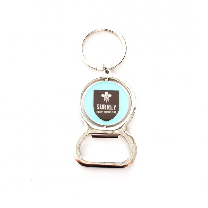 Surrey CCC Cricket Bottle Opener Keyring