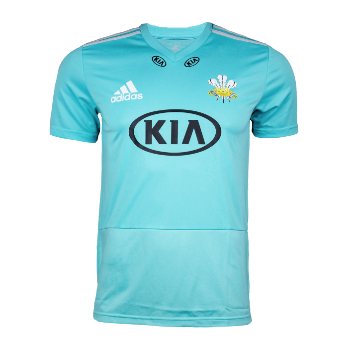 Surrey Adidas Replica T20 S/S Playing Shirt, Youth